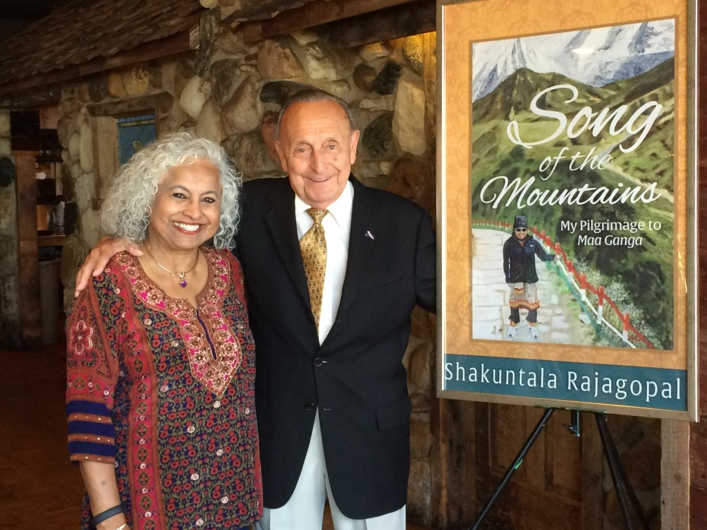 Author and artist Shakuntala Rajagopal and Port Edward owner Ed Wolowiec