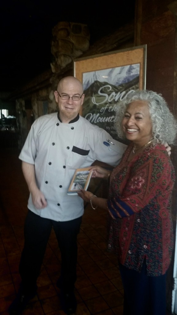 Author Shakuntala Rajagopal and Chef Keith of Port Edward